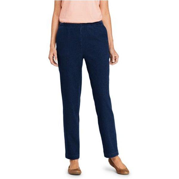 Lands' End - Sport Knit Denim Leg Trousers - 1