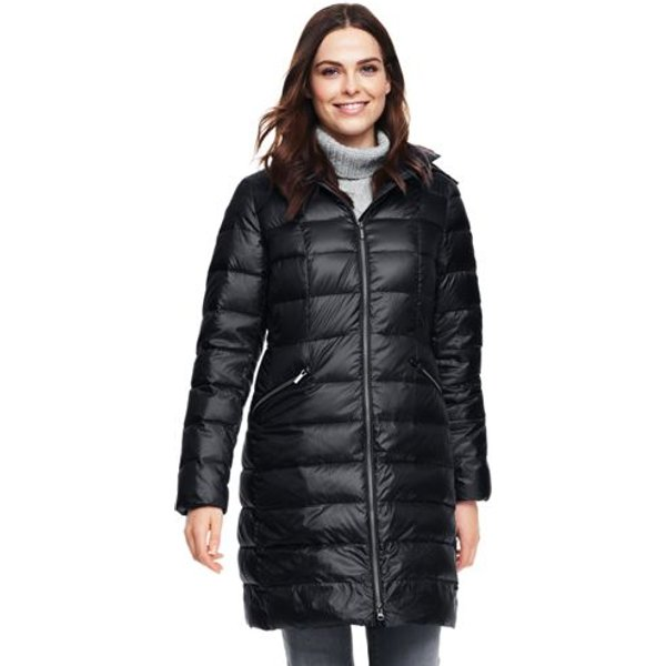 Lands' End - Petite Lightweight Down Long Coat - 1