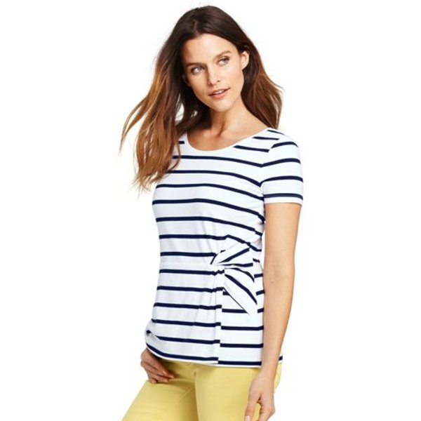 Lands' End - Summer Top with Side Knot - 1