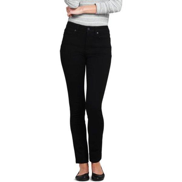 Lands' End - Mid Rise 360° Stretch Slim Black Jeans - 1