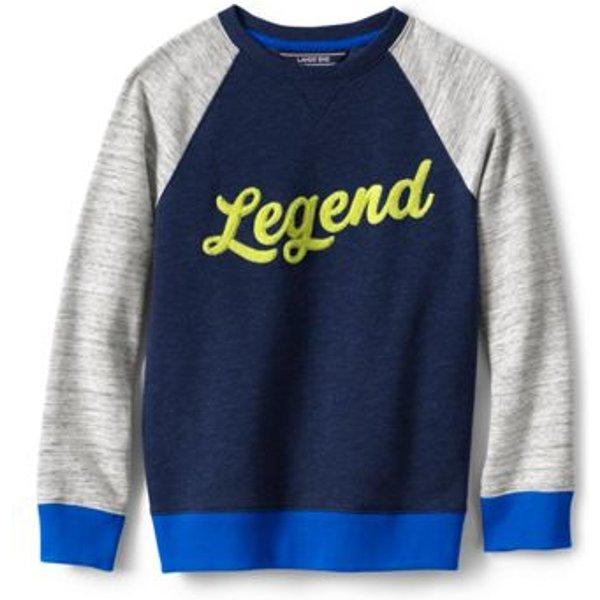 Lands' End - Little Boy's Sweatshirt with Legend Graphic - 1