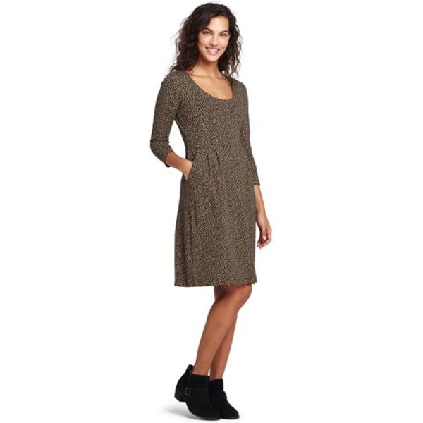 Lands' End - Plus Scoop Neck Print Jersey Dress - 1