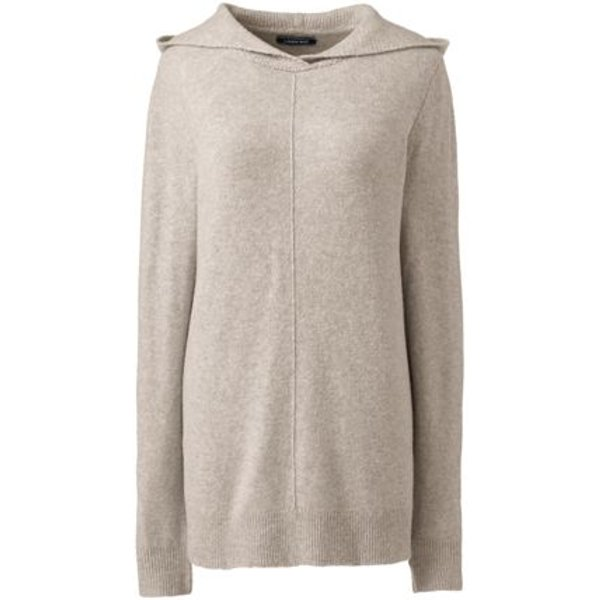 Lands' End - Plus Boucle Hooded Jumper - 1