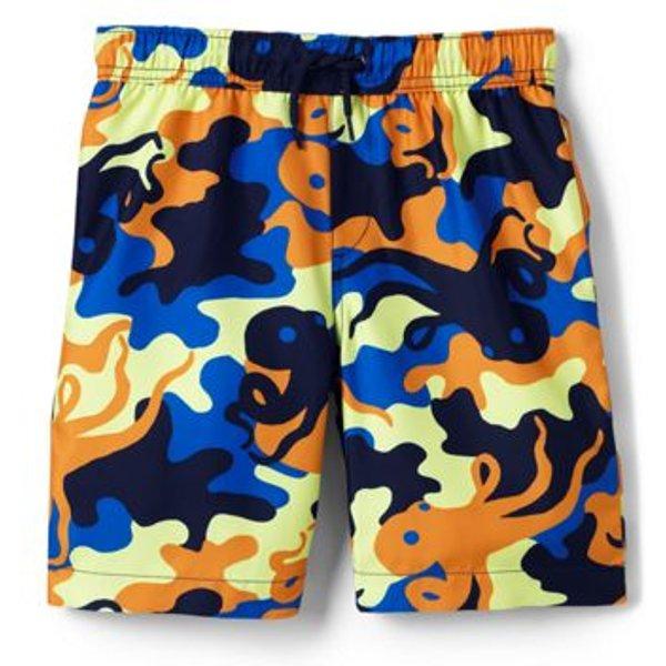 Lands' End - Boys' Patterned Swim Shorts - 1