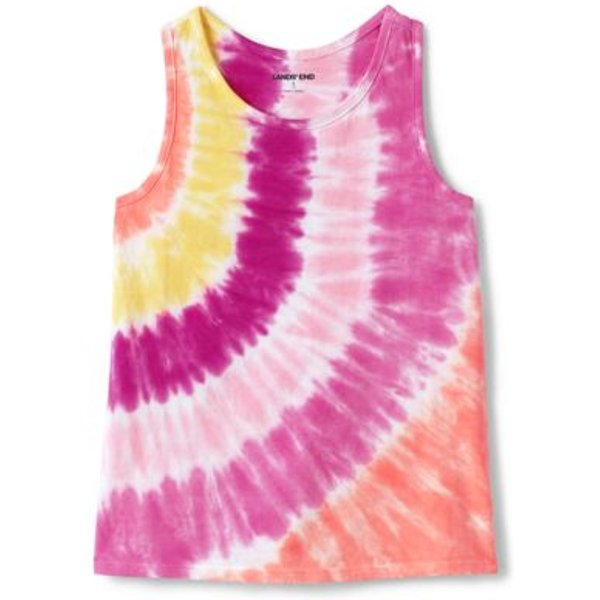 Lands' End - Little Girls' Tie Dye Racer Back Cotton Vest Top - 1