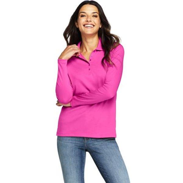 Lands' End - Long Sleeve Supima Cotton Polo Shirt - 1