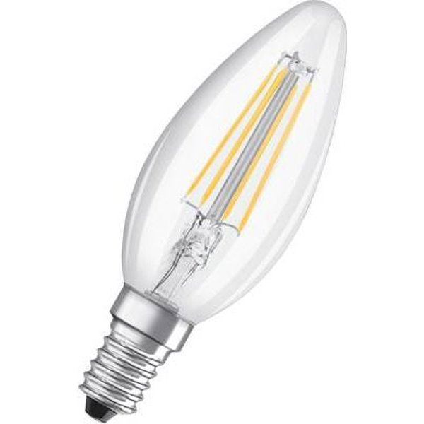 LED-Filament-Kerzenlampe E14 4W, warmweiß, 3er-Set
