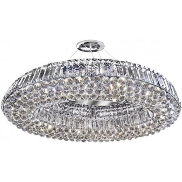 Searchlight 9291CC Vesuvius 10 Light Semi Flush Ceiling Light In Chrome With Mirror And Crystals