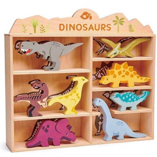 Tender Leaf Toys - Kinderregal Dinosaurier - 8er-Set