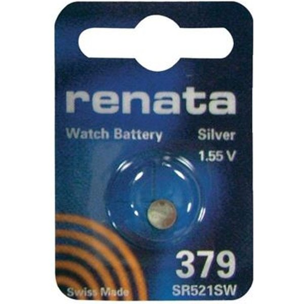 Pile bouton oxyde d'argent 379 1 pc(s) X92766 - RENATA