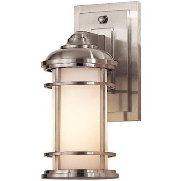 Lighthouse outdoor wall lamp, brushed steel