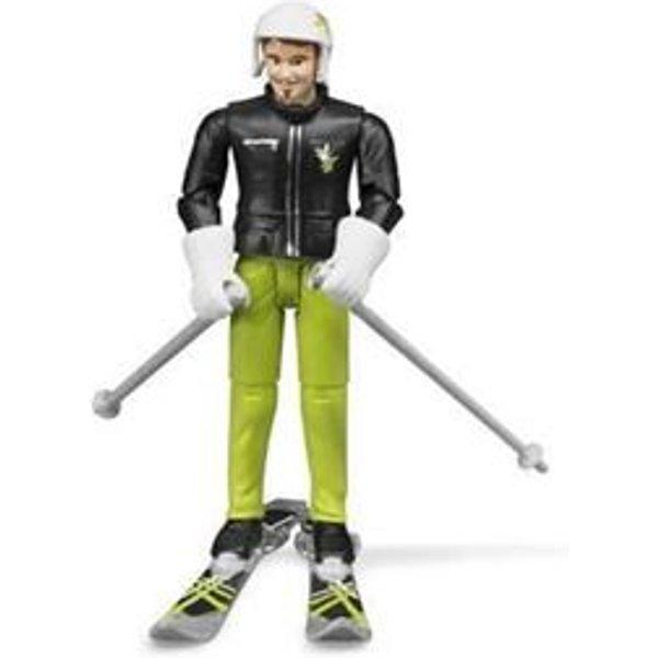Bruder - 60040 - figurine - skieur avec accessoires