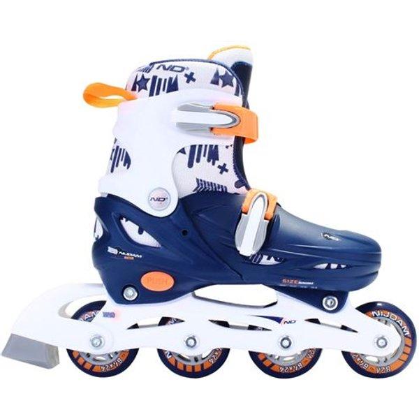 NIJDAM Inline Skates Junior 52SA verstellbar Hardboot marine-weiß Kinder