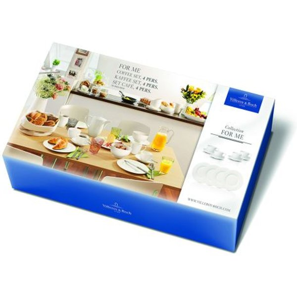 Villeroy & Boch For Me white coffee set 4 persons 12 pcs.