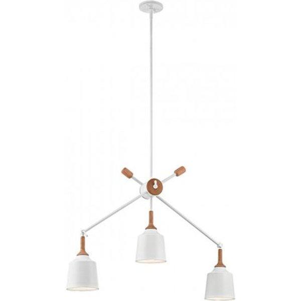 Adjustable hanging light Danika three-bulb