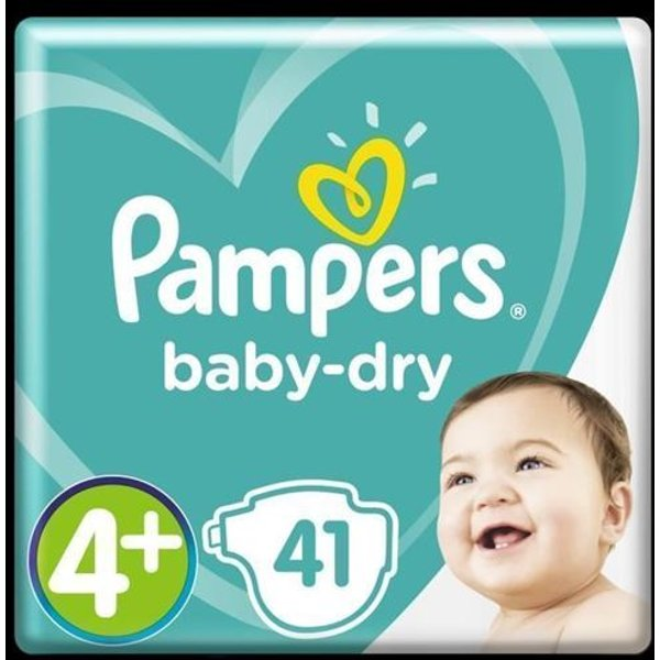 Pampers Baby Dry Gr. 4 Maxi Plus Sparpaket, 41 Stück