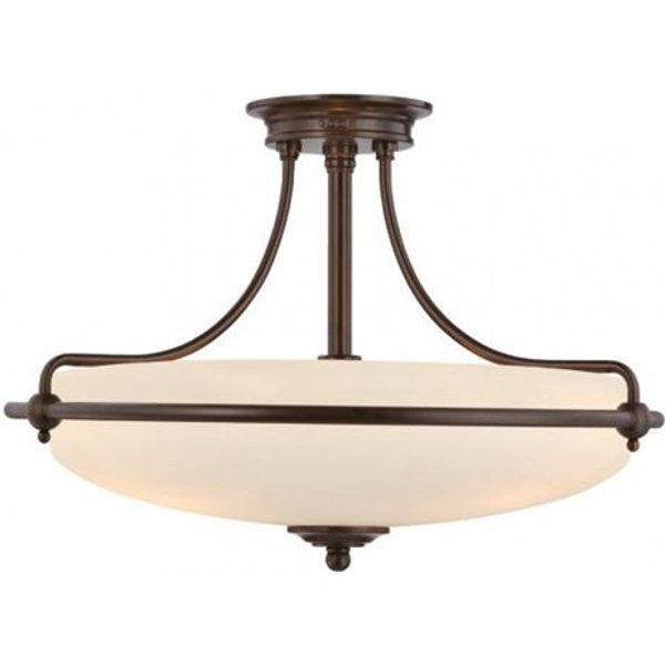 Deckenlampe Griffin mit Abstand, bronze, Ø 53 cm