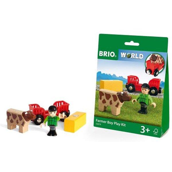 Brio ® WORLD Spielpäckchen Bauer mit Kuh 33879