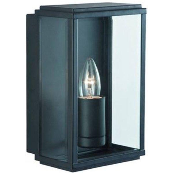 Applique 1 ampoule Outdoor & Porch, en métal noir et verre