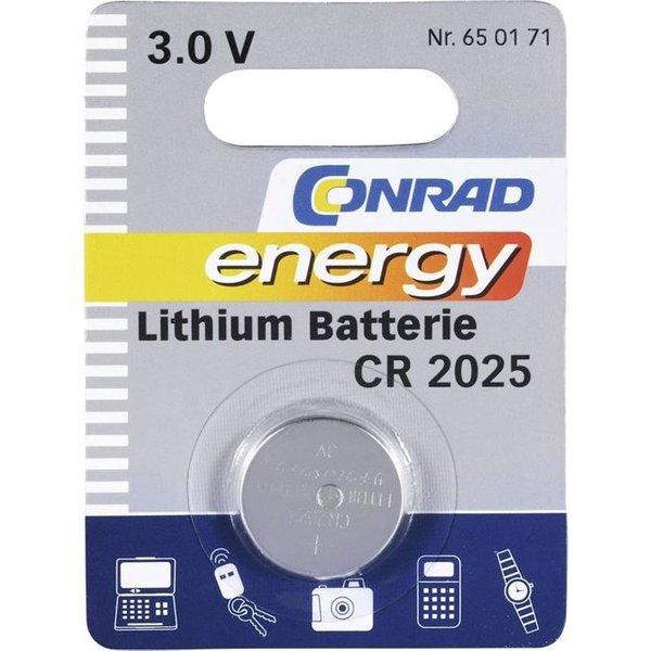 CR2025 Knopfzelle CR 2025 Lithium 140 mAh 3V 1St