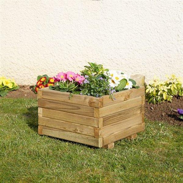 Jardinière carrée en bois avec feutre géotextile Primo 40