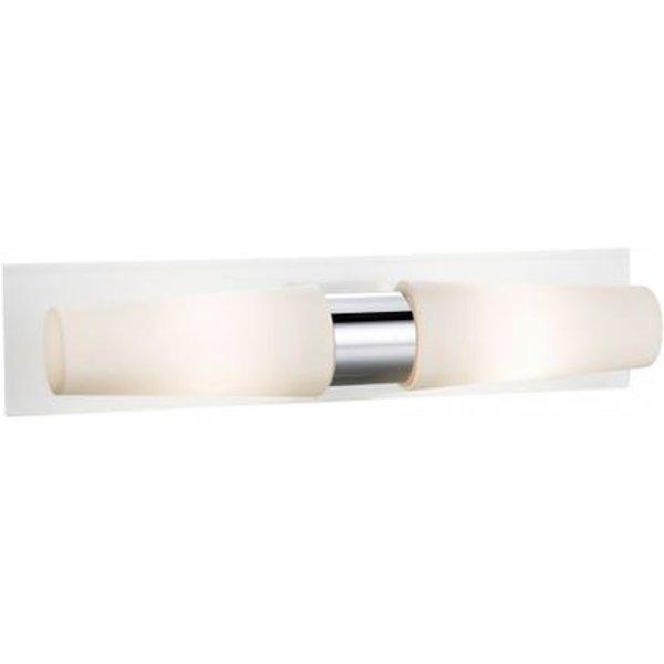 Applique murale de salle de bains BRASTAD chromée 2 ampoules