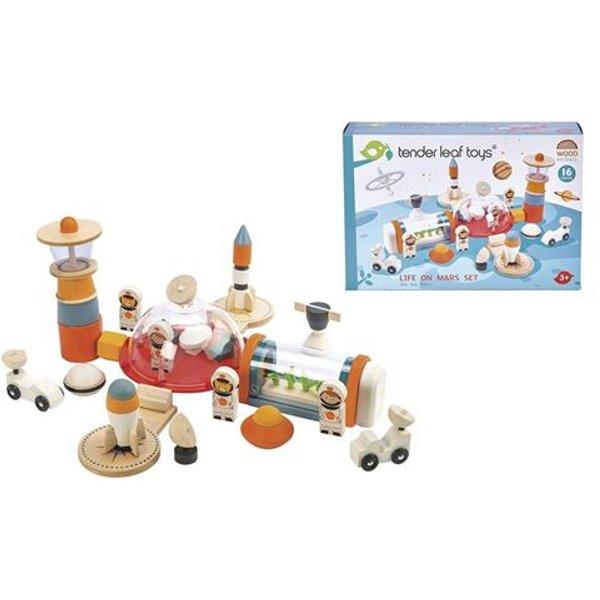 Tender Leaf Toys - Set Leben auf dem Mars für Kinder