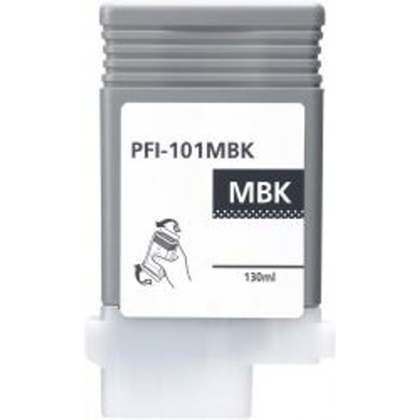 Canon Pfi101 Cartouche Noir Mat Compatible (0882B001)