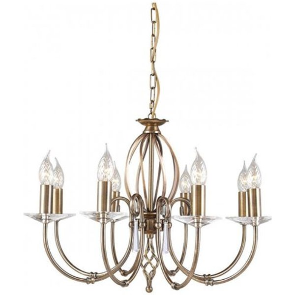 Elstead AG8-AGED-BRASS Aegean 8 Light Ceiling Pendant Light