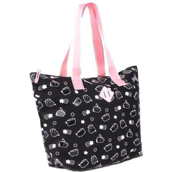 Pusheen - All Over - Shopping bag - black-white-pink