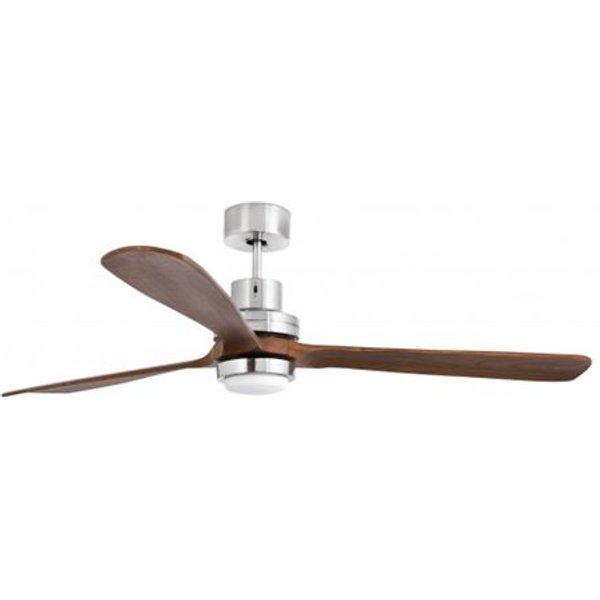 Ventilateur de plafond avec lumière nickel mat Lantau