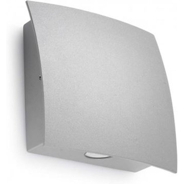LED-Außenwandleuchte Surf, Aluminium grau