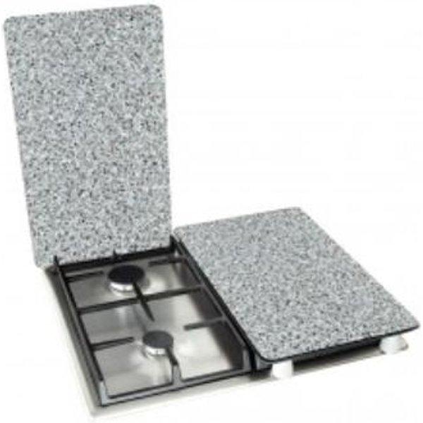 Plaques de protection en verre «Granit», 2 pièces