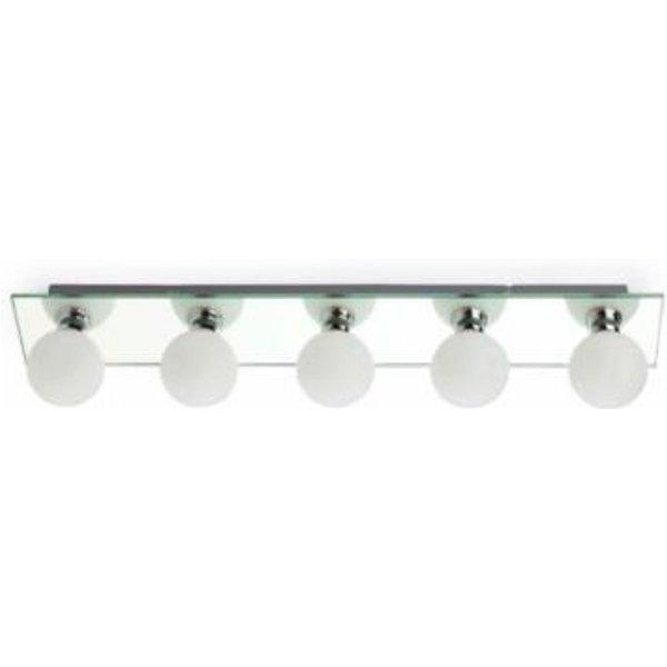 LASS Mirrored Bathroom Ceiling Lamp, 5 Lamp (FAR_63009)