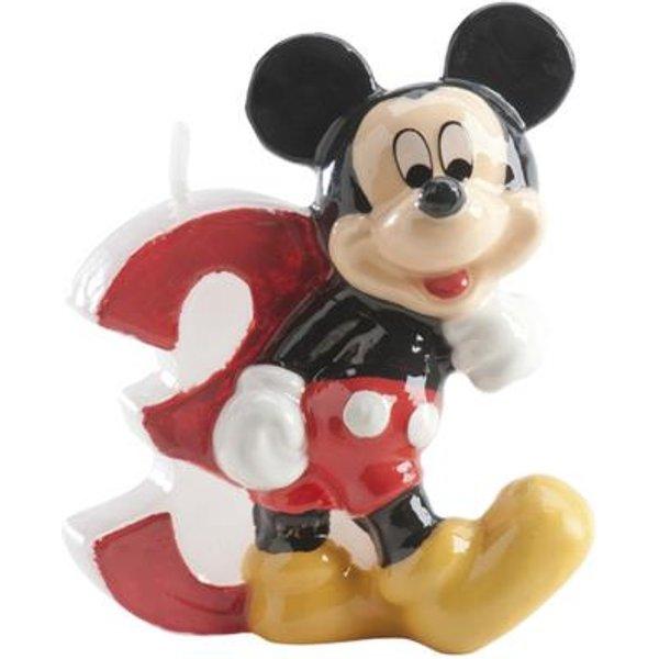 Bougie chiffre Mickey 3 pour gateau