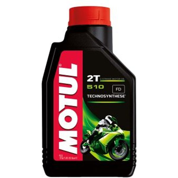 Motul 104028 510 2T Huile pour moto à moteur 2 temps 1 L
