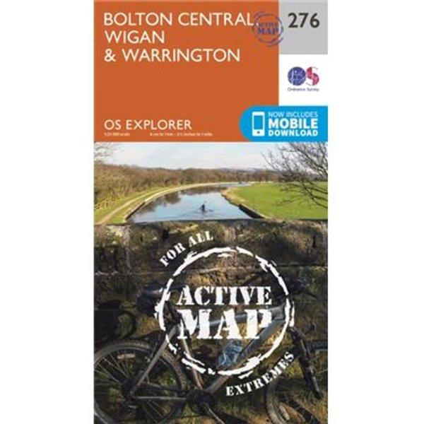 Os Explorer Map Active (276) Bolton, Wigan And Warrington (Os Explorer Active Map) (Map)