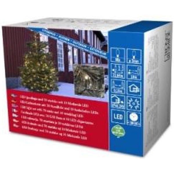 KONSTSMIDE 3611-140 GUIRLANDE 80 MICRO LED BLANC CHAUD + CÂBLE NOIR 24 V