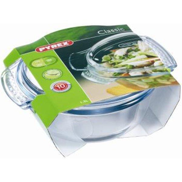 Pyrex Round Glass Casserole Dish 1.5Ltr (51002)
