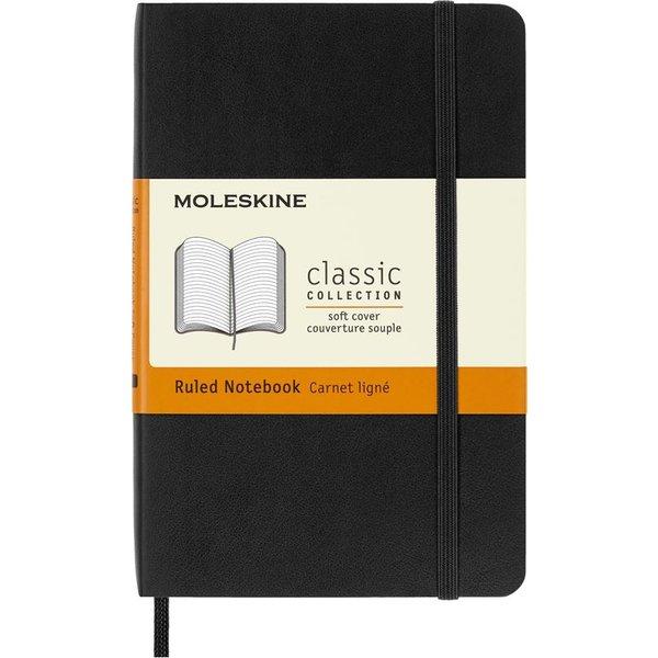 Moleskine Soft Cover Pocket Ruled Notebook Black