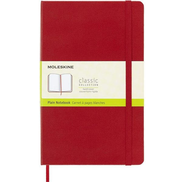 Moleskine Large Plain Notebook Red