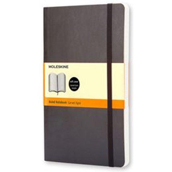 Moleskine Soft Large Ruled Notebook Black