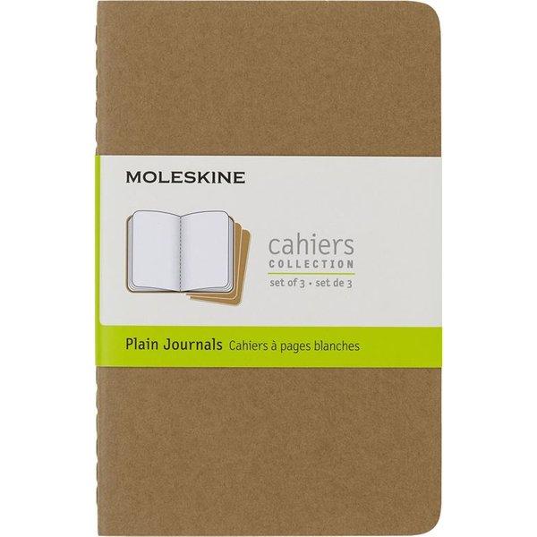 Moleskine Plain Cahier - Kraft Cover (3 Set)