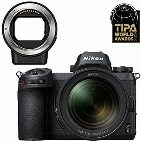 Nikon Z 6 Kit 24-70mm f/4 S + FTZ Adapter Systemkamera