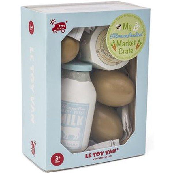 Le Toy Van - Kiste des Käse- und Milchmarkts Holzspielzeuge