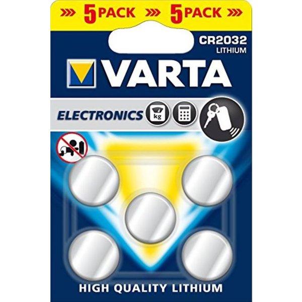 VARTA CR2032 5PCS - CR2025 Knopfbatterien (Silber)