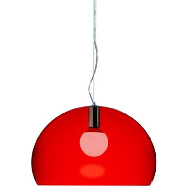 KARTELL lampe à suspension FL/Y fly (Rouge - PMMA transparent)