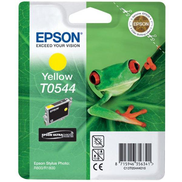 Epson Original T0544 Druckerpatrone gelb Blister 400 Seiten 13ml (C13T05444020)