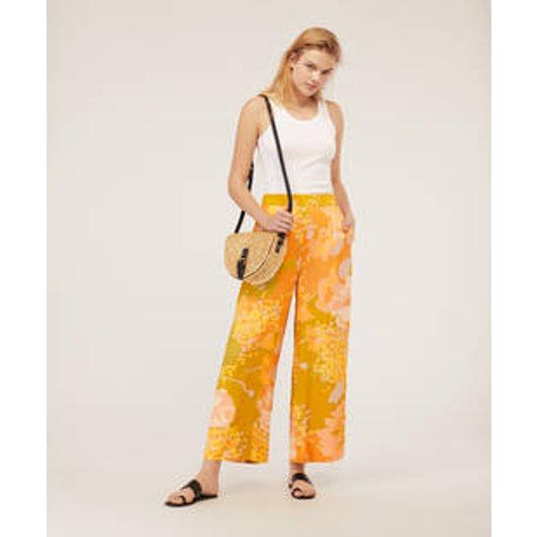 Oysho - Pantalon large maxi fleur - 1