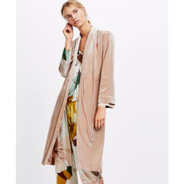 Oysho - Robe de chambre velours franges - 1